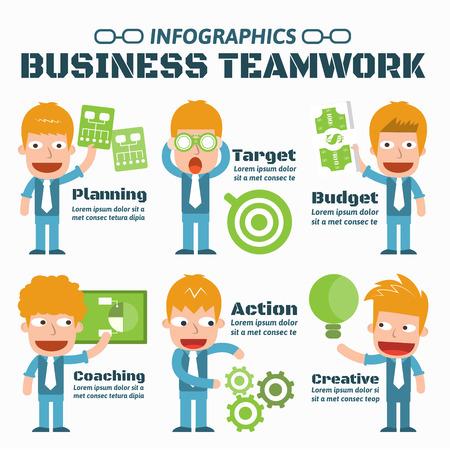 Business Teamwork Infographic Elements Illustration