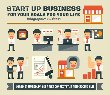 Start Up Business,Vector Infographic Business Elements