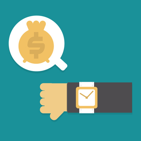 Time & Money ,Vector cartoon concept abstract business