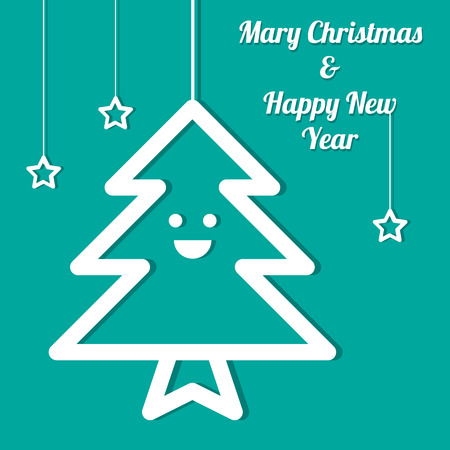 Christmas Tree ,Vector cartoon business Illustration