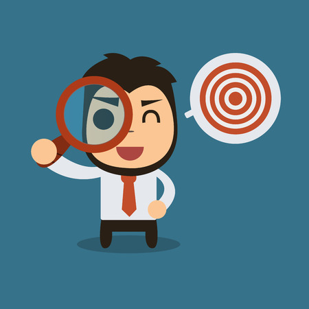Searching Target,Vector cartoon concept abstract business