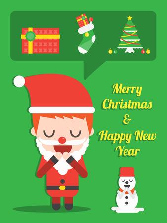 pray for: Pray for you on Christmas Eve ,Vector cartoon business Illustration