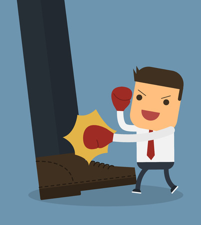 Fighting business,Vector cartoon concept abstract business
