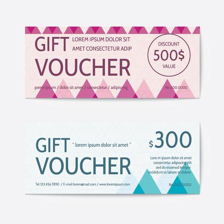 Gift voucher modern template