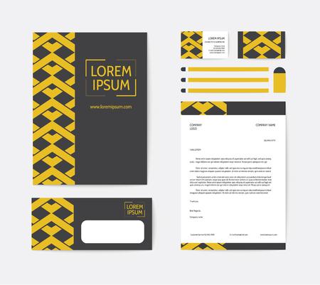 Business corporate identity template design