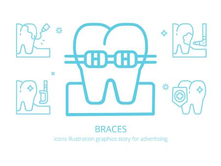 Braces : icons illustration graphics
