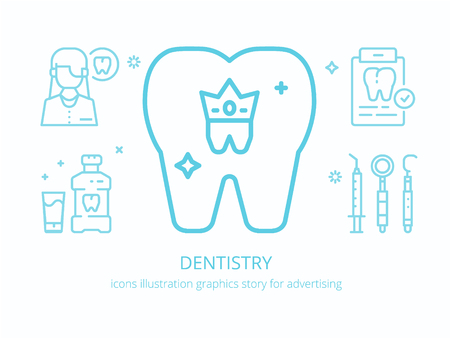 Dentistry: icons illustration graphics