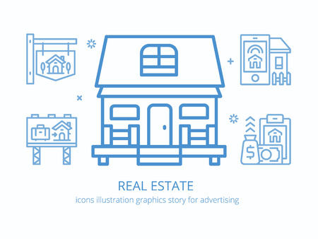 Real estate : icons illustration graphics. Illustration