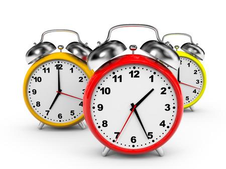 Alarm clock on white background. 3D illustration. illustration