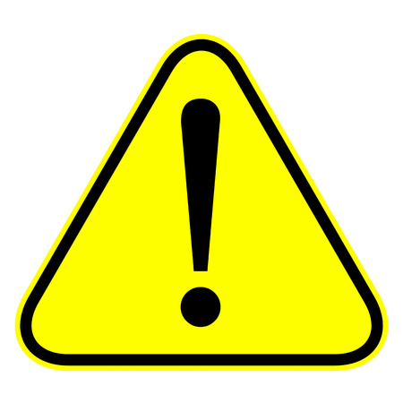 Warning attention sign with exclamation mark symbol on white . Stock Photo - 26861768