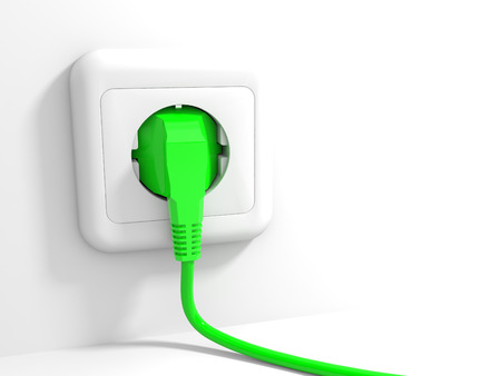 Plug and socket. 3D illustration. illustration