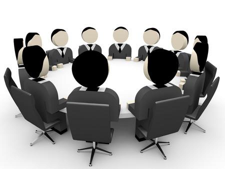 3D business people. Meeting. 3D illustration. 版權商用圖片