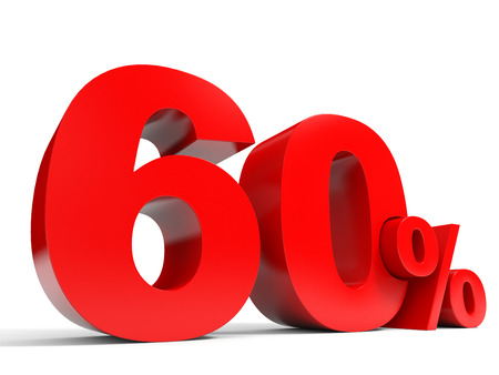 sixty: Red sixty percent off