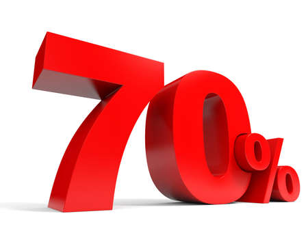 Red seventy percent off Stock Photo