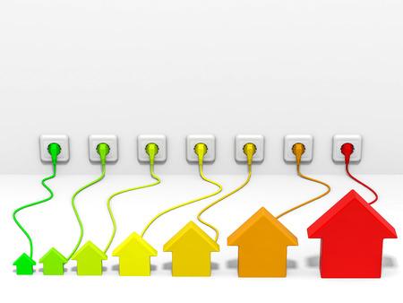Houses plug to socket Standard-Bild