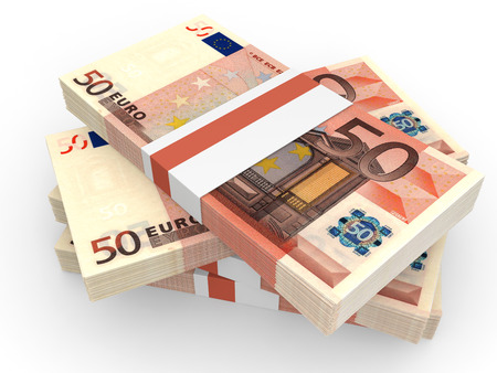 Stack of EURO banknotes photo