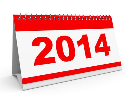Calendar 2014 on white background. 3D illustration. illustration