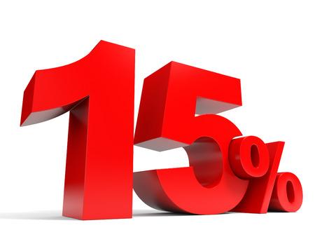 레드 15 % 할인. 15 % 할인. 3D 그림입니다. 스톡 콘텐츠