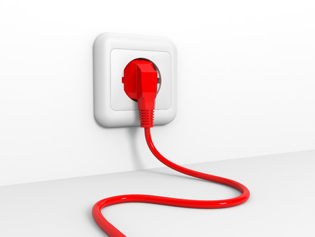 Plug and socket. Ilustraci�n 3D. photo