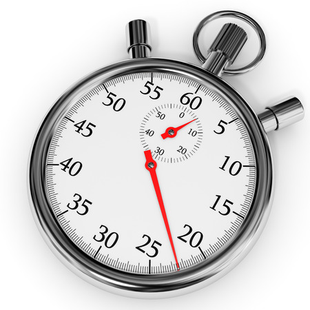 Stopwatch on white background. 3D illustration. illustration