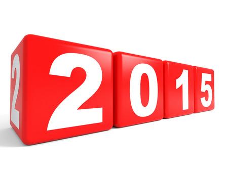 2015 New Year cubes. 3D illustration. illustration