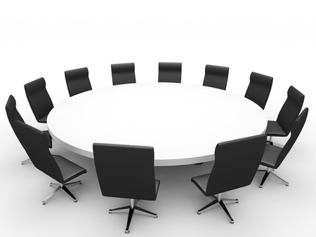 Meeting. 3D illustration. Stock Photo