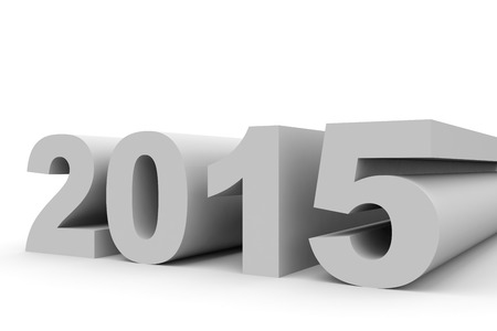 year 3d: 2015 New Year. 3D illustration.