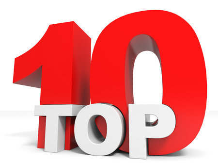 10: Top 10. Ten. 3D illustration.