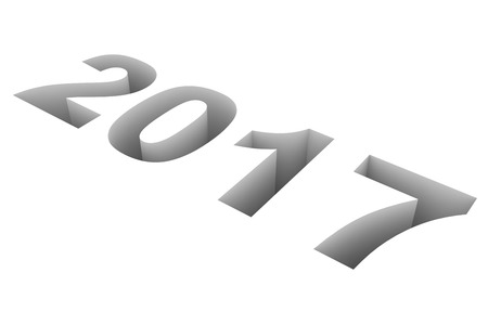 year 3d: 2017 New Year. 3D illustration. Stock Photo