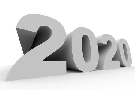 year 3d: 2020 New Year. 3D illustration.