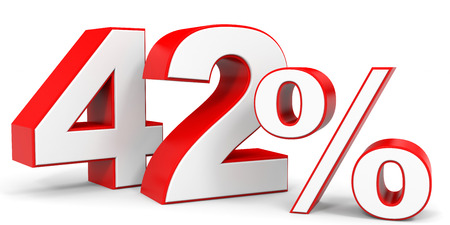 price hit: Discount 42 percent off. 3D illustration.