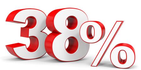 Discount 38 percent off. 3D illustration.