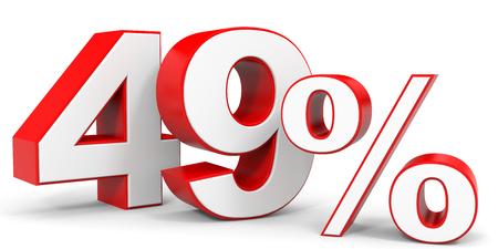 price hit: Discount 49 percent off. 3D illustration.