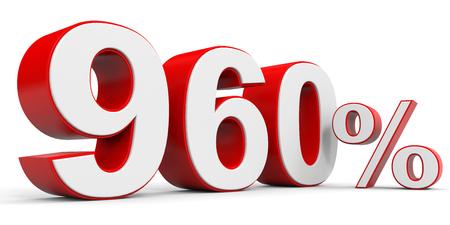 price hit: Discount 960 percent off. 3D illustration. Stock Photo
