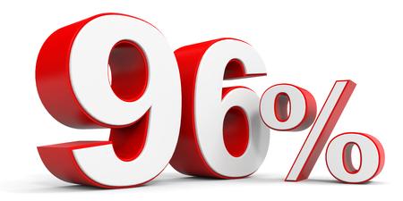 price hit: Discount 96 percent off. 3D illustration.