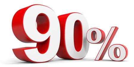 90: Discount 90 percent off. 3D illustration. Stock Photo