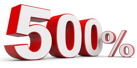 Discount 500 percent off. 3D illustration. Stock Photo