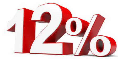 price hit: Discount 12 percent off. 3D illustration.