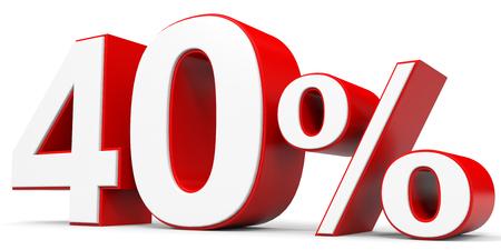 price hit: Discount 40 percent off. 3D illustration.