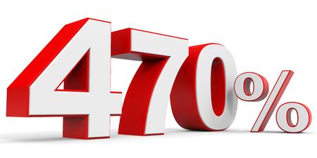 price hit: Discount 470 percent off. 3D illustration.