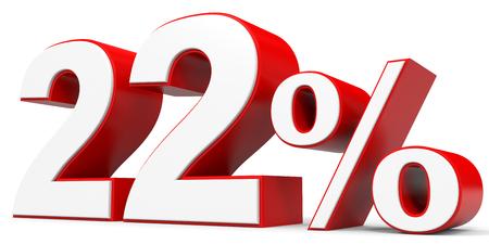 price hit: Discount 22 percent off. 3D illustration.