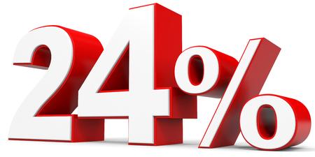 price hit: Discount 24 percent off. 3D illustration.