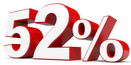 2 50: Discount 52 percent off. 3D illustration.