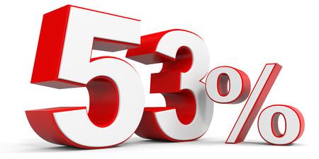 price hit: Discount 53 percent off. 3D illustration.