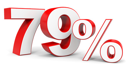 price hit: Discount 79 percent off. 3D illustration.
