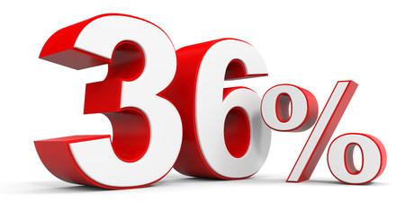 Discount 36 percent off. 3D illustration. Stock Photo