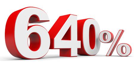 price hit: Discount 640 percent off. 3D illustration. Stock Photo