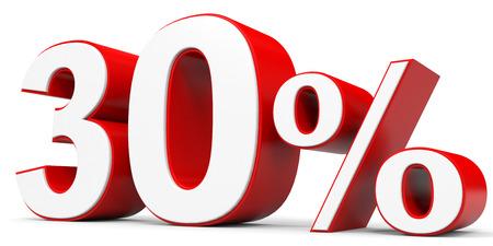 price hit: Discount 30 percent off. 3D illustration. Stock Photo