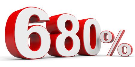 price hit: Discount 680 percent off. 3D illustration.