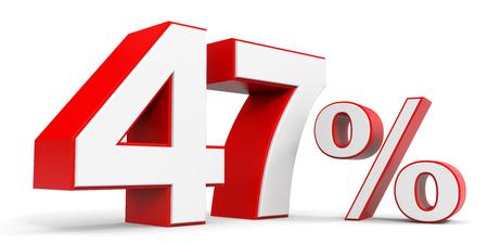 price hit: Discount 47 percent off. 3D illustration.